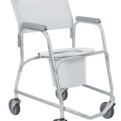Invacare Shower Chair Office Workout Equipment Mobile Rehab Commode 6358