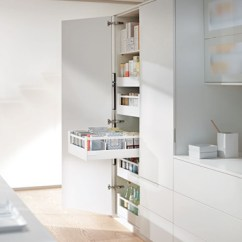 Blum Kitchen Bins Kid Craft Larder Drawers Antaro Clutterfree Kitchens