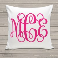 personalized throw pillow, monogram girl, custom pillowcase