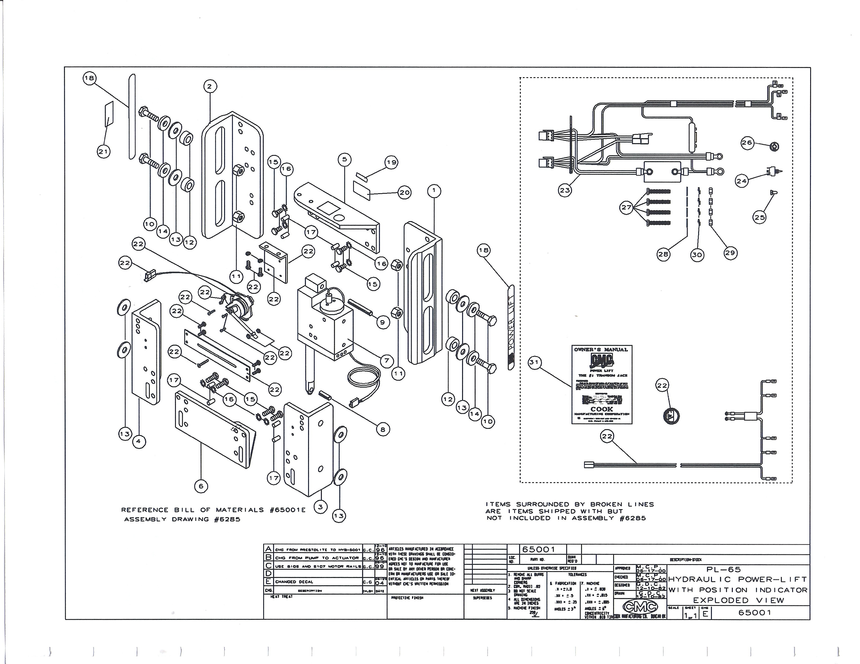 jack plate wiring diagram pioneer eeq mosfet 50wx4 cmc pl 65 hydraulic repair parts for 65001 and
