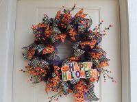 DIY Mesh Happy Halloween Wreath - The Wreath Depot