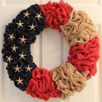 Diy Burlap Starfish Flag Patriotic Wreath The Wreath Depot