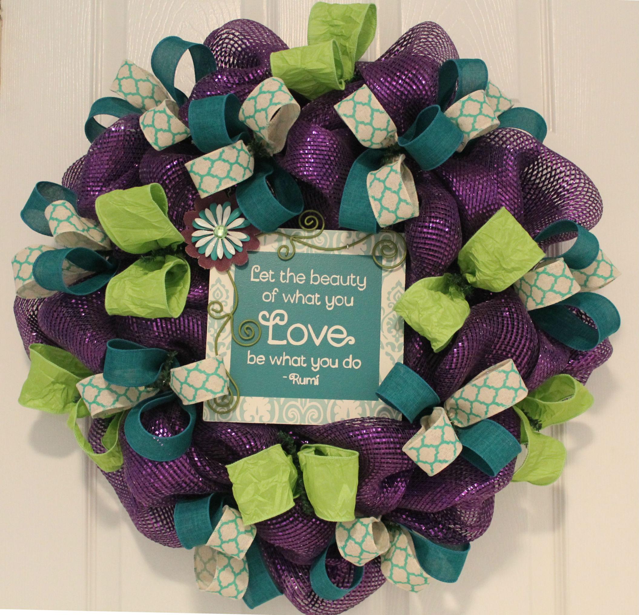 """Diy Purple Ribbon Wreath """"beauty Of Love"""" - Depot"""
