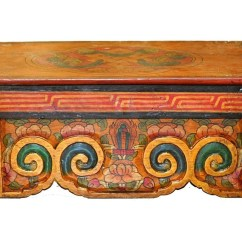 Folding Chair Nepal Covers For Rent Eternity Knot Altar Table Hand Painted In Lotus