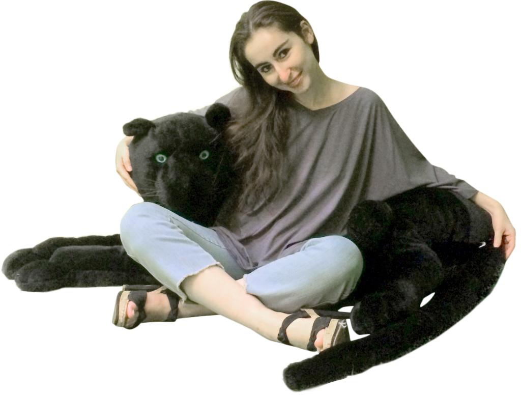 Giant Stuffed Black Panthers
