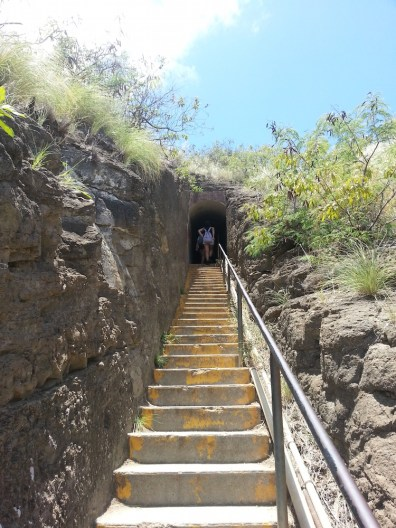 Staircase to tunnel