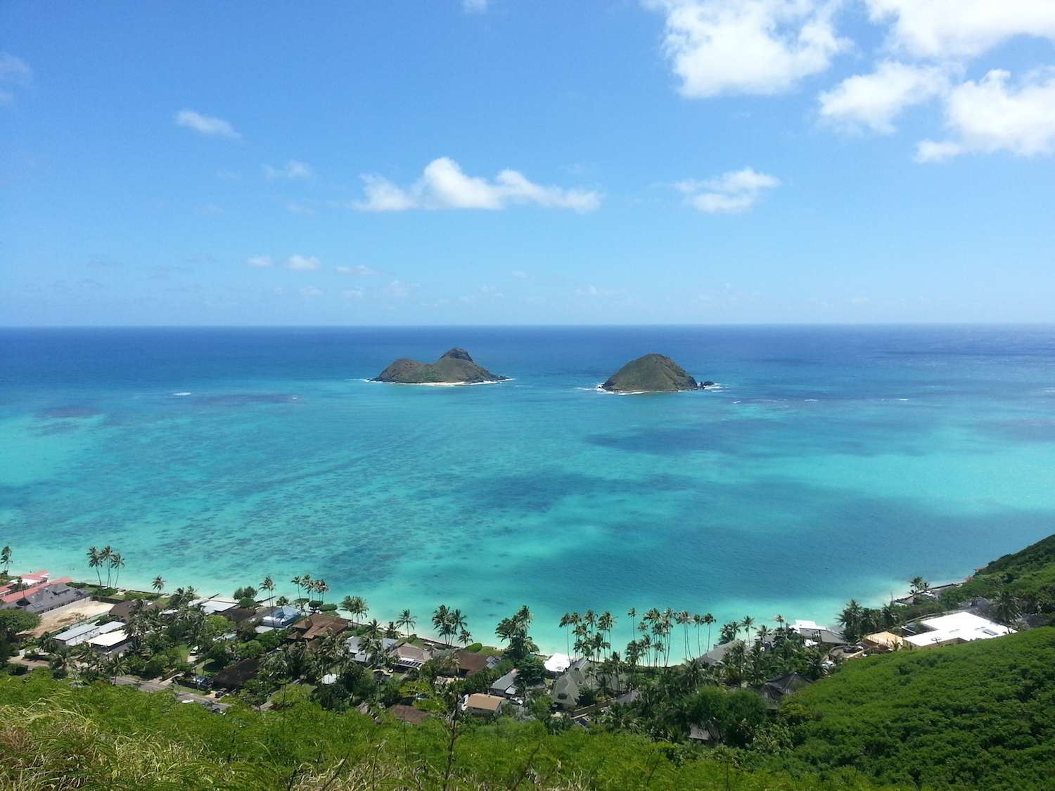 Lanikai Pillboxes, Kailua, Oahu, Hawaii