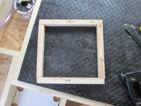 The wood frame