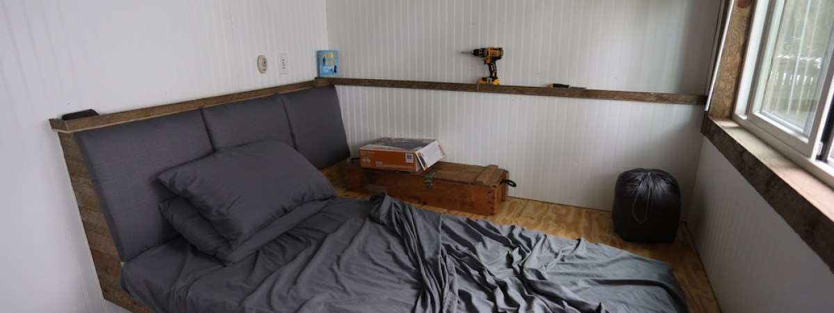 Tiny House: Building a Bed