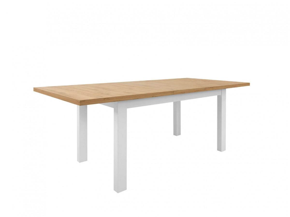 table extensible 160 200 cm 4 6 personnes marla chene clair et blanc