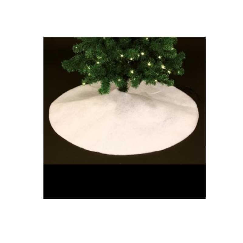 tapis a sapin rond blanc o 100 cm