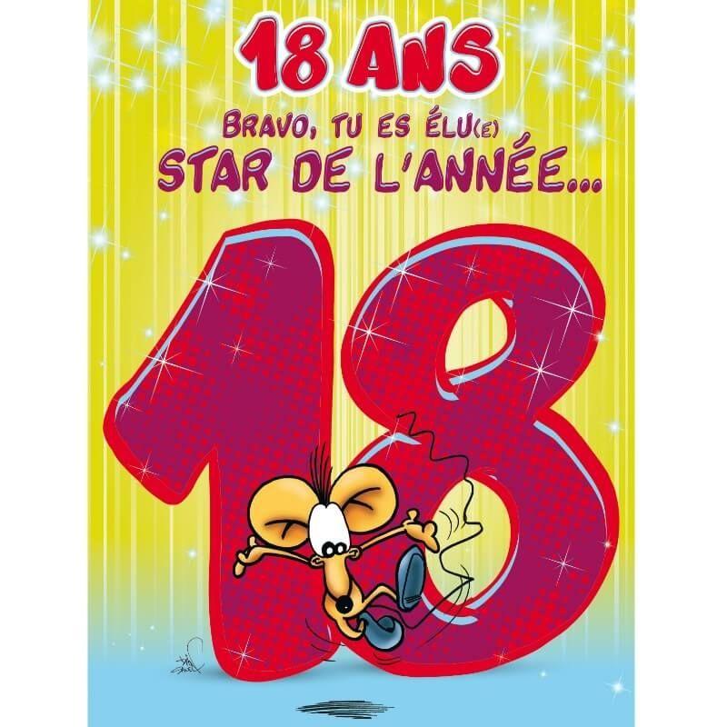 carte d anniversaire geante avec enveloppe 18 ans