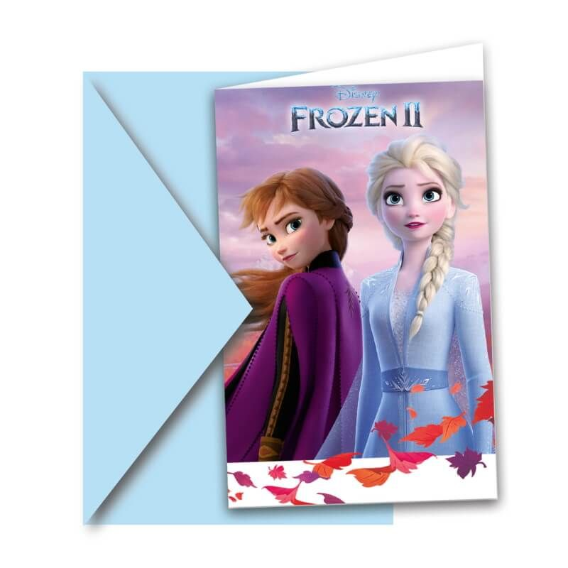 6 invitations la reine des neiges 2