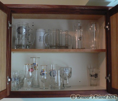 Beer Glass Cabinet in Brewery  Brewers Friend