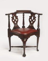 Brooklyn Museum: Decorative Arts: Chippendale Corner Chair