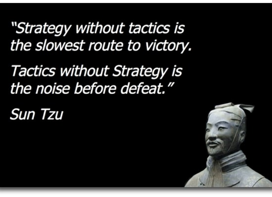 Strategy Without Tactics Is The Slowest Route To Victory. Tactics Without Strategy Is The Noise Before Defeat. Sun Tzu - Image Copyright Business2Community.Com
