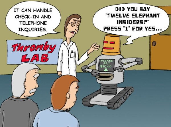 5 Reasons People Laugh At Your Customer Service Scripts image thromby robot 600x444