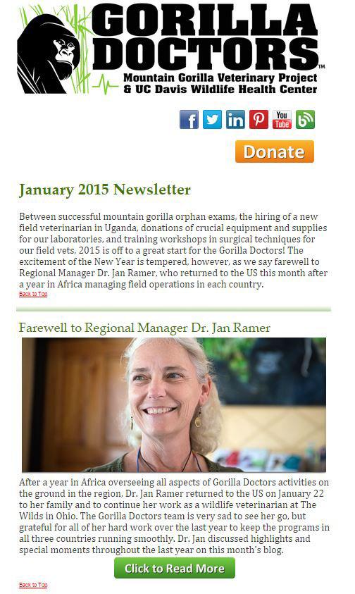 Newsletter - Gorilla Doctors