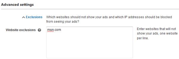 advanced bing ads settings