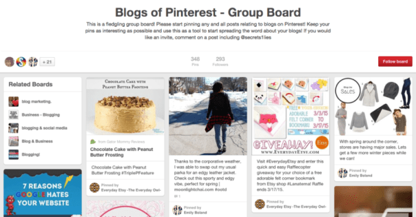 Invite Others to Your Group Blog Board on Pinterest