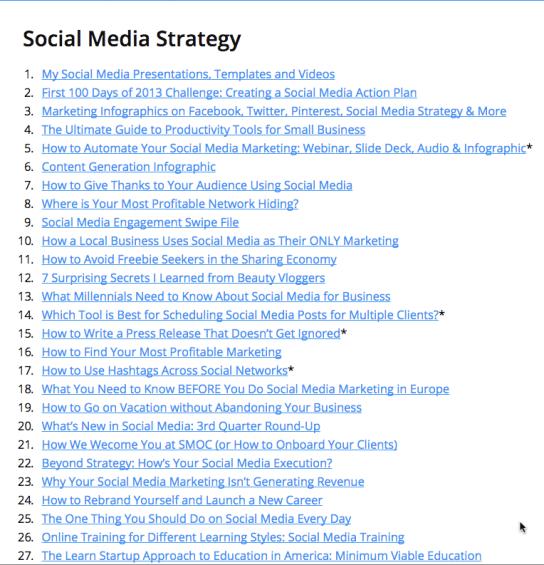 100 marketing resources from 2014
