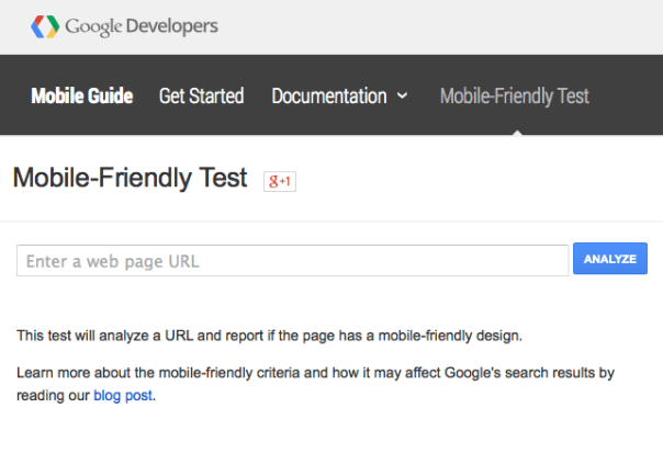 Google Mobile-Friendly Test Site