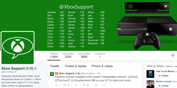 Xbox Offers Great Social Media Support