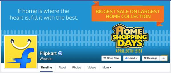 flipkart facebook page