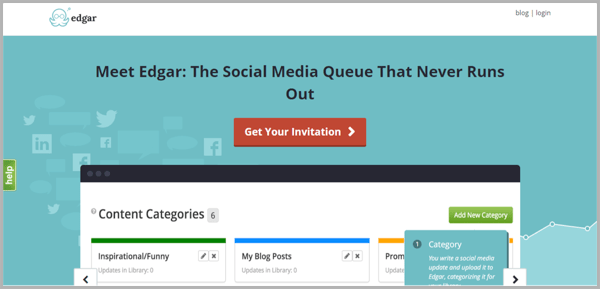 Meet Edgar - example of social media management tools