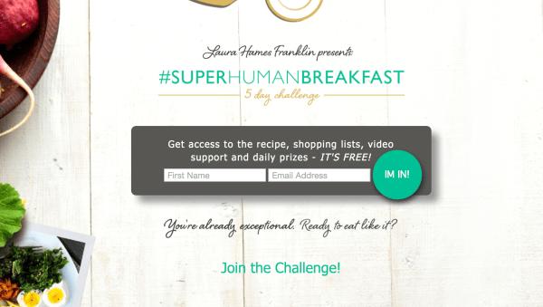 SuperHuman Breakfast lead magnet example