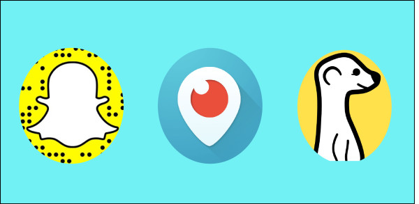 Periscope logo snapchat logo meerkat logo