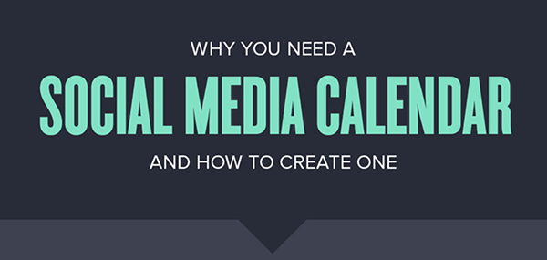 Header of infographic about social media calendar