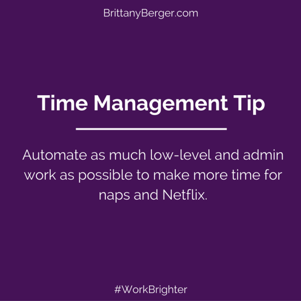Time Management Tip Automate Admin Tasks