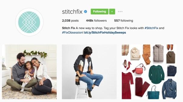 Stitchfix Standard Sales Link in Instagram Bio