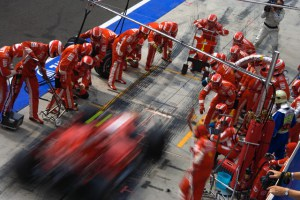 Ferrari Pit Stop During Hungarian Grand Prix