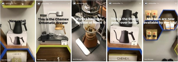 Clarity Coffee Shop Instagram Story Drives Foot Traffic