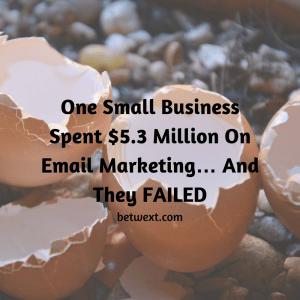 Email Marketing Fail