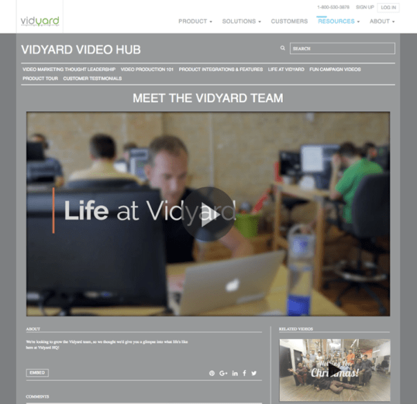 Vidyard Employee Team Video