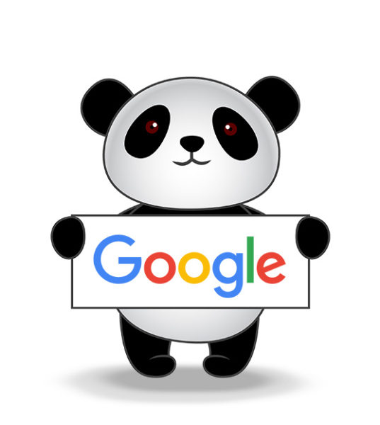 A Panda representing the Google Panda update