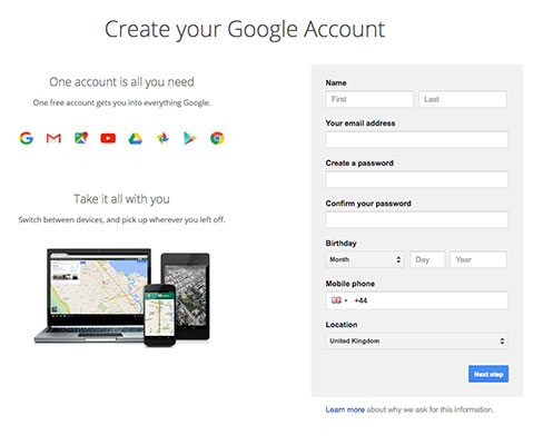 Setup your Google Analytics account