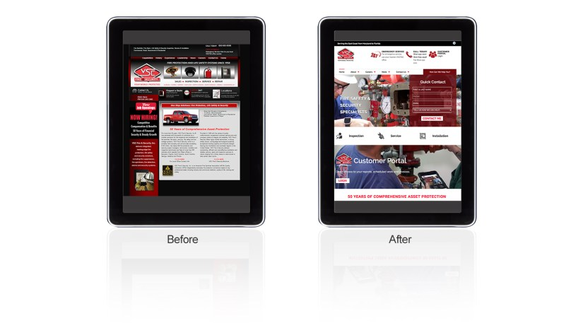 webdesign durham vsc fire and security before and after mixed digital