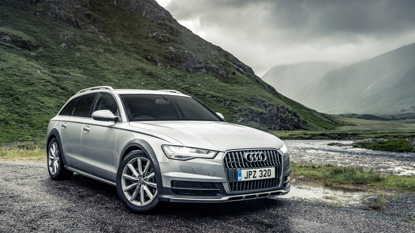 an all wheel drive all rounder the audi a6 allroad combines off roading and luggage carrying capabilities [ 1423 x 800 Pixel ]