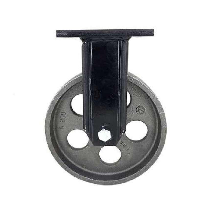 roulette industrielle ancienne vintage en fonte diametre 200 mm charge 600 kg industyl200f