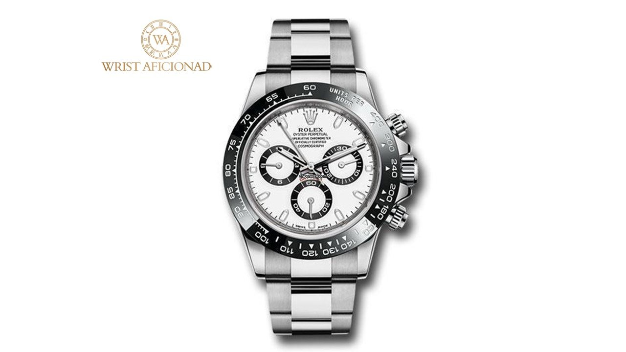 Rolex Daytona Ceramic Bezel White Dial 116500LN NEW for