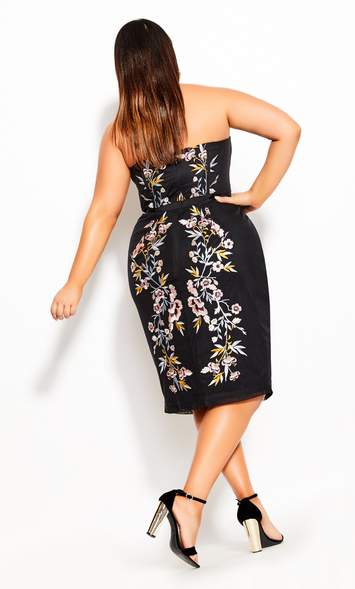 Softly Embroidered Dress - black 8