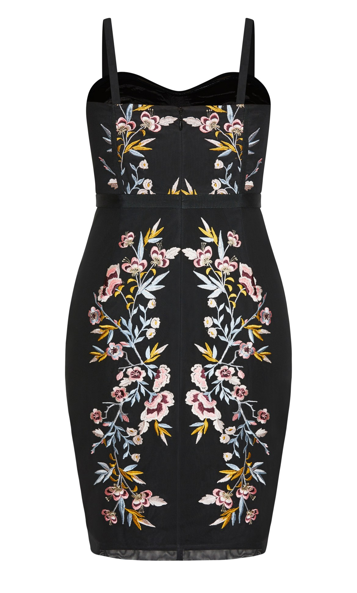 Softly Embroidered Dress - black 14