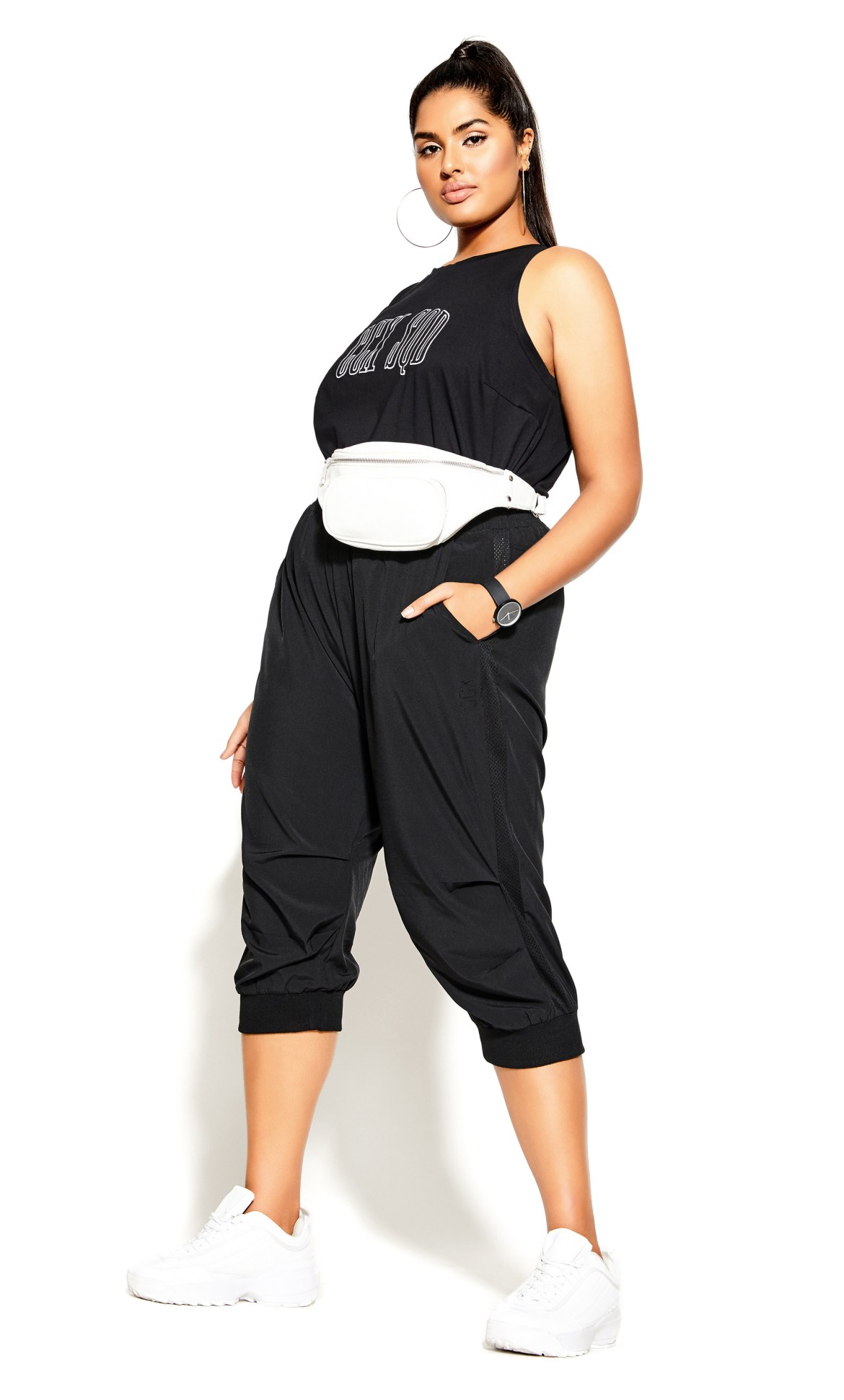Active Knot Front Top - black 4