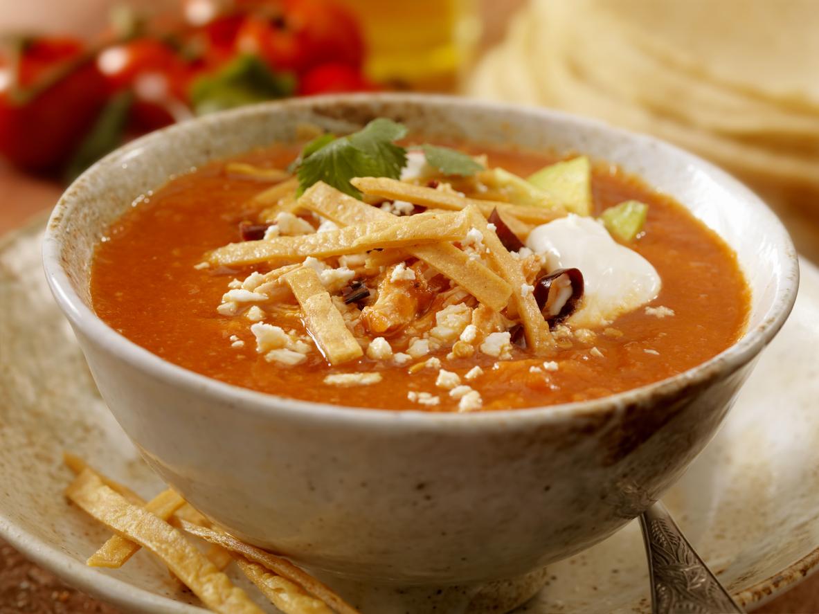 Resultado de imagen para sopa de tortillas