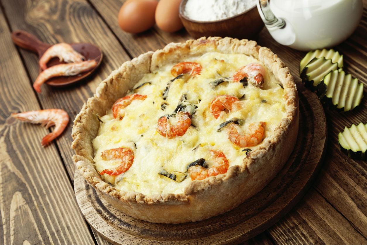 receta de tarta de mariscos  CocinaDelirante