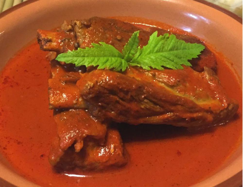 receta de costilla de cerdo en chile morita  CocinaDelirante